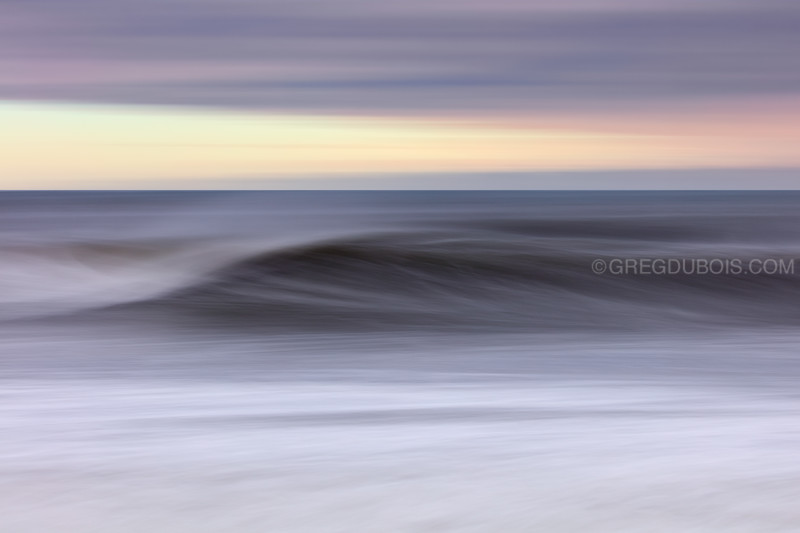 Winthrop Beach Winter Storm Surge Waves Abstract