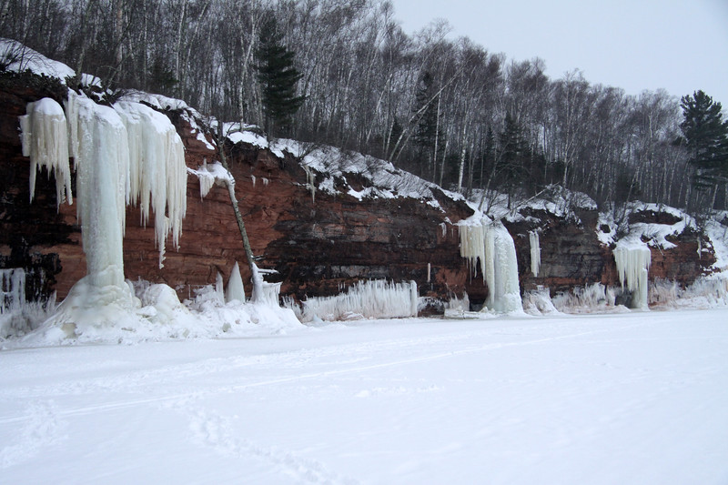 "From the snow coated Lake Superior - to the ice sculpting along the ""Bowl"" area of the Bay Field Peninsula - Apostle Islands National Shoreline - northern most area of WI."