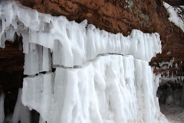 Fragmented ice column.
