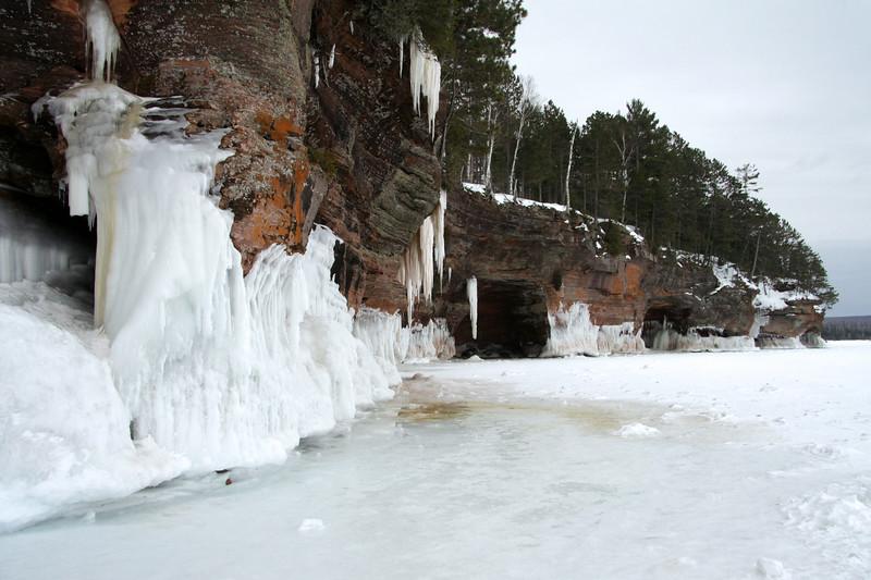 Mid-winter season along the Bayfield Peninsula shoreline - Lake Superior.