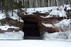 Mid-winter season sea cave, along Lake Superior.