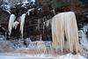 Waterfall ice and lake wave ice.
