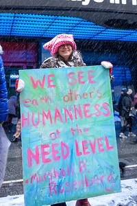 Demonstrators take part in the 4th annual Women's March in New York on January 18, 2020.