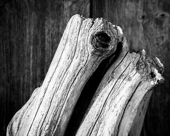 Weathered Wood on Weathered Wood, BnW