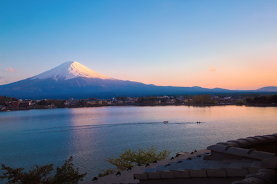 Mt.Fuji at sunset.