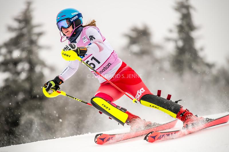 Maryna Gasienica-Daniel POL - Audi FIS Ski World Cup Womens Slalom Killington Vt-20171126-01