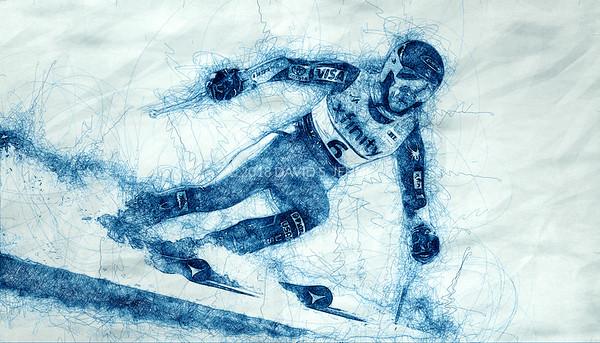 Mikaela Shiffrin USA - Audi FIS Ski World Cup Womens Giant Slalom Killington Vt-20171125-SCRIBBLE-02
