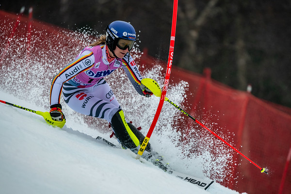 Lena Duerr GER racing in the second run of the Audi FIS Ski World Cup Women's Slalom event held at Killington Resort in Vermont, USA, November 25, 2018.