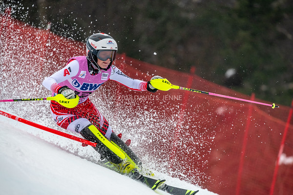 Katharina Truppe AUT racing in the second run of the Audi FIS Ski World Cup Women's Slalom event held at Killington Resort in Vermont, USA, November 25, 2018.