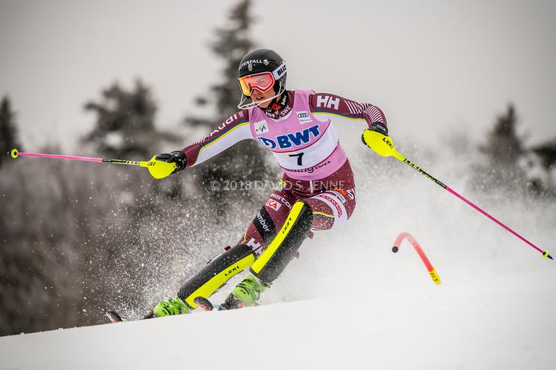 Emelie Wikstroem SWE - Audi FIS Ski World Cup Womens Slalom Killington Vt-20171126-04