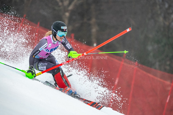 Nina Haver-Loeseth NOR racing in the second run of the Audi FIS Ski World Cup Women's Slalom event held at Killington Resort in Vermont, USA, November 25, 2018.