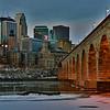 Winter at the Stone Arch Bridge