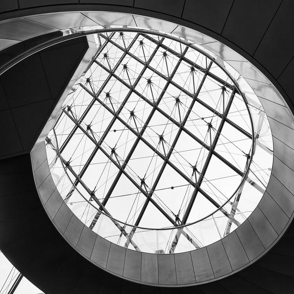 Spiral Beneath Rhombic Panes