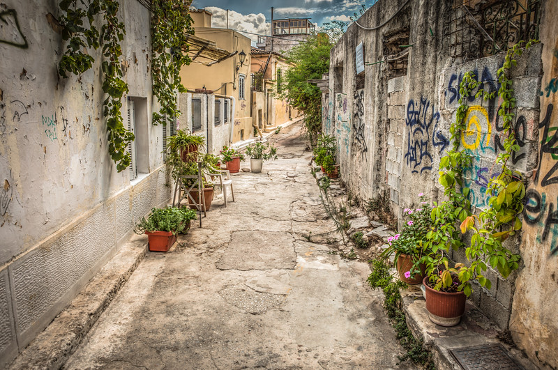 Alley In Athens