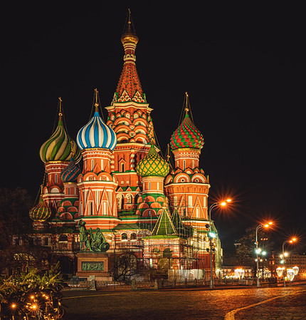 Red Square and Saint Basil's Cathedral, Moscow, Russia