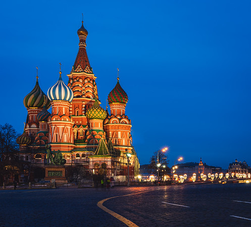 Saint Basil's Cathedral in Red Square in Moscow, Russia