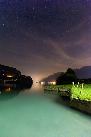 Lake Brienz, Switzerland at night