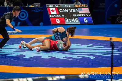 Champ. Round 1: Victoria Christine Francis (United States) over Dejah Aniela Slater (Canada)  •  Fall 2:30 - 2019 World Championships