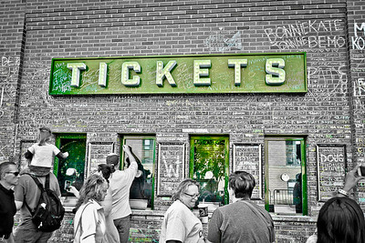 Green Ticket Sign