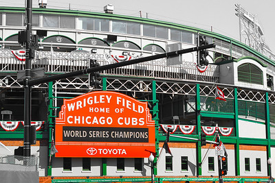 """""""WRIGLEY MARQUEE"""" LIMITED METAL PRINT"""