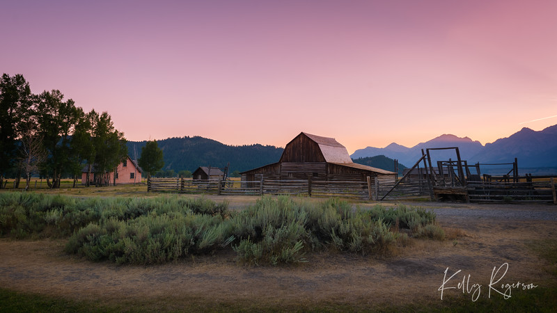 Mormon Row At Twilight