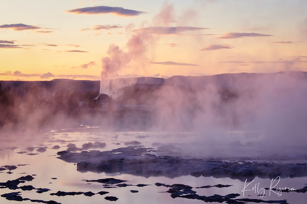 Geyser at Sundown