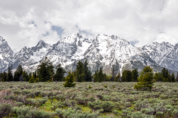 Teton National Park as winter is beginning to end and spring is around the corner. Jackson Hole, Wyoming.