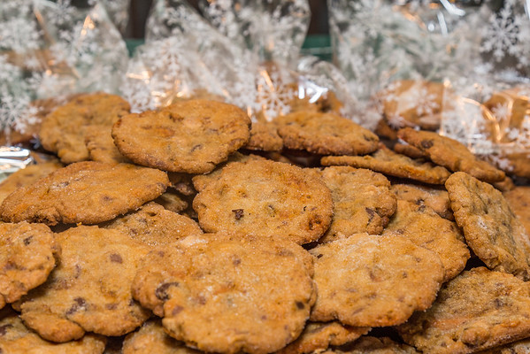 Chocolate Chip Peanut Butter Butterfinger Chips and Reeces Pieces Chips Cookie