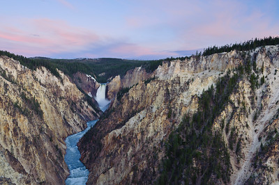 """Yellowstone Falls Sunrise"" - Yellowstone National Park, WY"