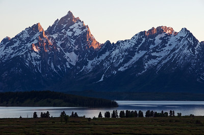 Sunset on the Tetons