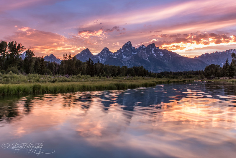 Schwabacher's Landing Sunset - Grand Teton NP, 2016