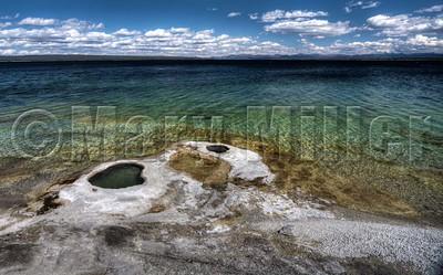 Geyser Pools At Yellowstone