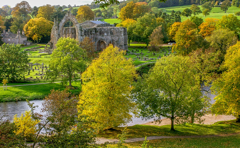 Bolton Abbey ruins in Wharfdale