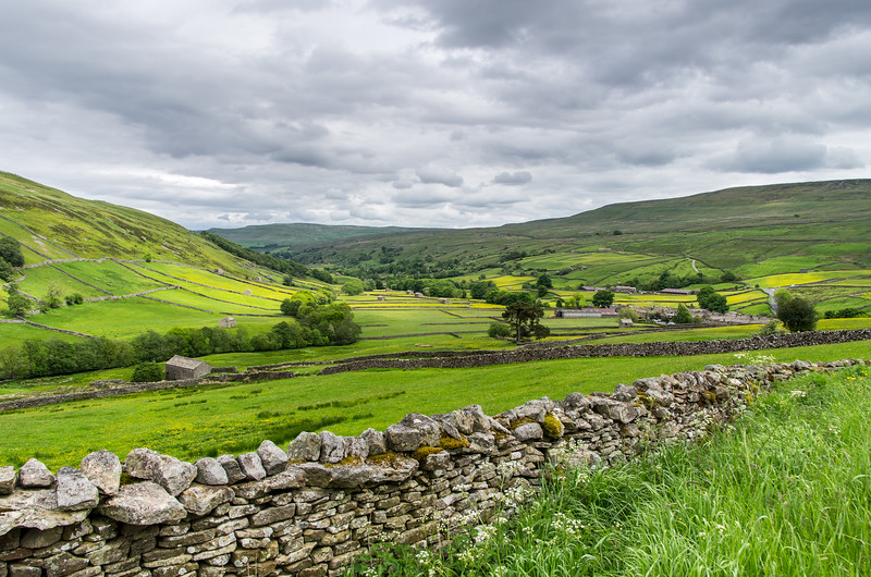 View to Muker in Upper Swaledale