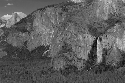 Half Dome and Bridival Fall