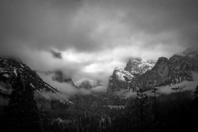 Yosemite Valley In B&W