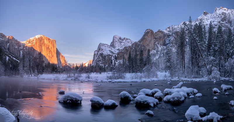 Frozen valley - Yosemite NP, 2019