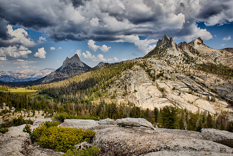 Cathedral and Echo Peaks, Yosemite National Park