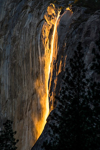 Horsetail Falls From Southside Dr.