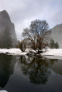 Merced River & Cathedral Rocks