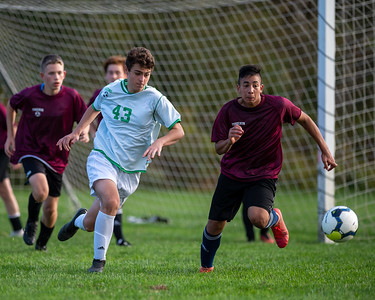 October 23, 2020 - Tohickon Middle School, Doylestown, PA - 8th Grade Soccer: Holicong vs. Tohickon (Credit Image: Carl Gulbish)