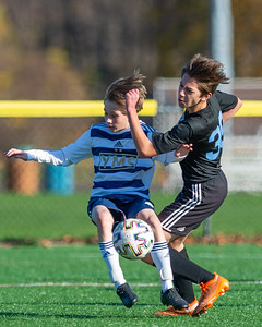 November 14, 2020 - Yardley, PA  - USYS Mid Atlantic Conference Premier 1 Blue match between the Philadelphia Unkrainian Nationals '07 Black vs. YMS Blackout(Credit Image: Carl Gulbish)