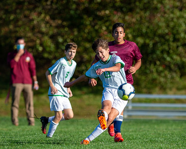 October 14, 2020 - Tohickon Middle School, Doylestown, PA - 8th Grade Soccer: Holicong vs. Tohickon (Credit Image: Carl Gulbish)