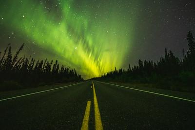 Aurora Borealis on the Alaska Highway
