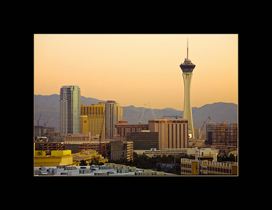Sunrise over Las Vegas, NV