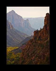 Zion Valley in the late afternoon