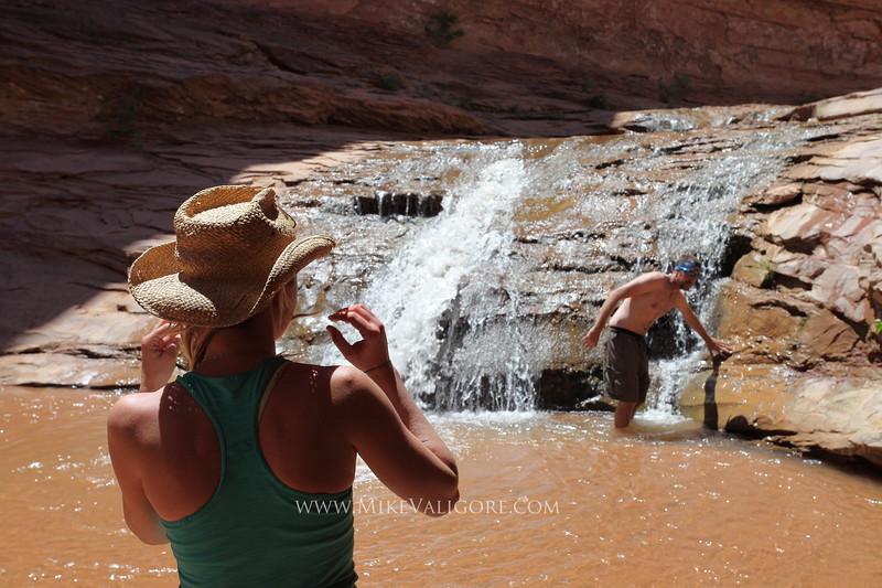 Coyote Gulch waterfall