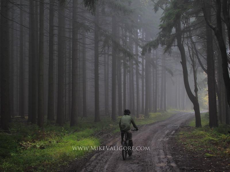 Misty bike ride<br /> Ellicottville, NY