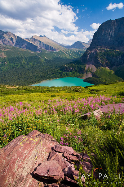 Lower Grinell Lake, Glacier National Park, Montana (MT), USA