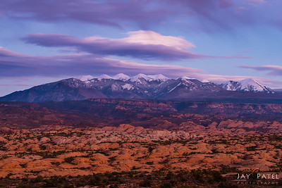 La Sal Mountains Overlook, Arches National Park, Utah